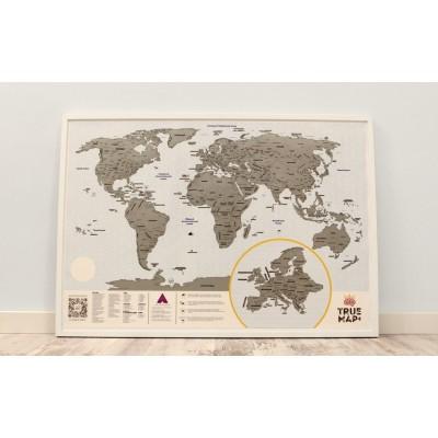 Скретч карта «True Map PLUS»