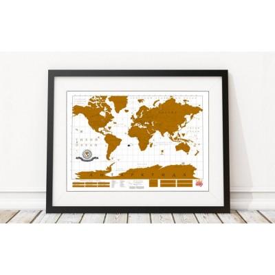 Карта мира с золотистым стирающимся слоем «True Map»