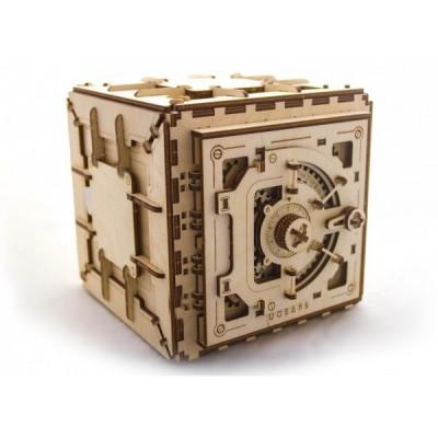 Сейф - деревянный конструктор с механизмом и кодовым замком